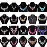 Fashion Crystal Resin Statement Collar Bib Pendant Chunky Necklace Chain Jewelry