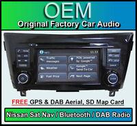 Nissan Qashqai Sat Nav car stereo, DAB+ radio, LCN2 Connect CD player Bluetooth