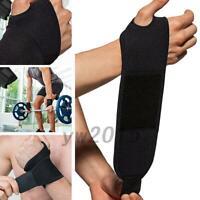 WRIST SUPPORT Brace Pain Relief Strap Wrap Carpal Tunnel Sprain Gym RSI AU Stock