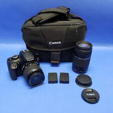 Canon EOS Rebel T6 DS126621 18-55mm & 75-300mm Lenses, Bag, 2) Batteries