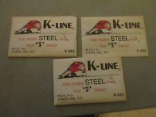 K-LINE S GAUGE 3 DOZEN STEEL TRACK PINS MINT IN PACKAGE NEVER USED