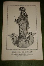 OUR LADY OF GOOD HEALTH OR GOOD REMEDY WHITE HOLY CARD