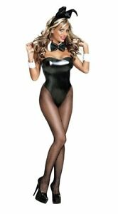 Hot Play Boy Bunny Rabbit Hostess Fancy Dress Easter Halloween Ladies Costume