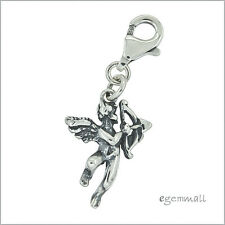 Antique Sterling Silver Love Angel Boy Clip On Charm #94176