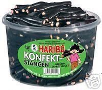 Haribo KONFEKT-STANGEN 150St.Dose Lakritz