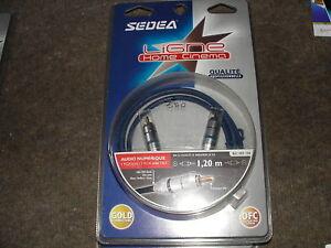 Cable Video Audio RCA 1,2m Haute Qualité OR