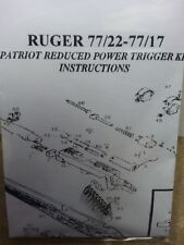 """Ruger 77/22 77/17 *Deluxe*Reduced Pull"""" Kit Made in Usa *"""