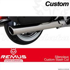 Silencieux Pot échappement Remus Slash Cut Inox noir Triumph Thunderbird LT 14
