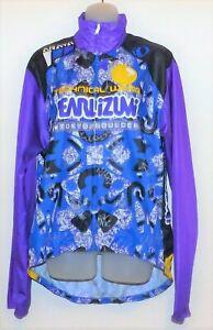 Mens Pearl Izumi Technical Wear Cycling Zippered Sports Jersey Shirt Jacket L