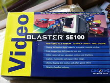 NEW BOXED Creative Labs Video Blaster SE100 ISA video overlay and capture board