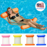 Portable Swimming Pool Toy Hammock Lounge Inflatable Water Floating Bed Chair US