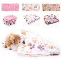 Dog Puppy Cat Blankets Soft Fluffy Premium Fleece Pet Blanket Flannel Throw