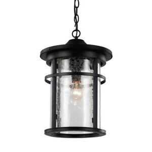 Bel Air Lighting Avalon Rust 1-Light Outdoor Hanging Lantern
