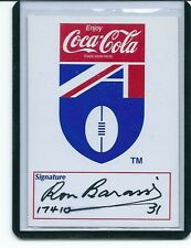 RON BARASSI BBQ CARD TONY LOCKETT & BARASSI  SIGNED / COMES WITH PHOTO PROOF