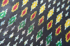 Donate Blind Cat Rescue -Handwoven Pure Ikat Silk Fabric with Geometric Patterns
