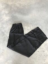 Black Polyester Womens Pajama Pants (Z) SZ Large