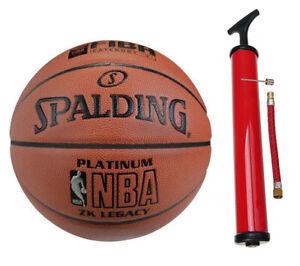 Spalding  Platinum Legacy indoor  Gr.7 + Ballpumpe