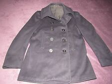 VINTAGE NAVAL CLOTHING FACTORY WOOL PEA COAT GREAT SHAPE RARE SIZE 36