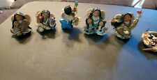 Lot Of 6 Enesco Friends Of The Feather Angel Collection.1999 Nice
