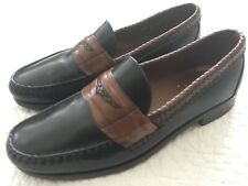 Allen Edmonds RYE, NY 10.5 D Penny Loafers Shoes Slip Ons Mens Brown Black