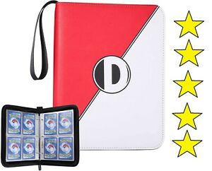 📌Pokemon Card Book Holder Binder Album Collection Pocket 400 Trading Cards Case