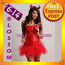 BAR1 Red Corset Tutu Skirt Devil Halloween Costume S-XL
