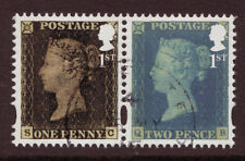GREAT BRITAIN 2015 PENNY BLACK PAIR OF STAMPS FINE USED