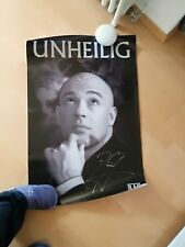 Unheilig Poster mit Autogramm