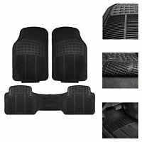 Car Floor Mats for All Weather Rubber 3pc Set Tactical Fit Heavy Duty Black