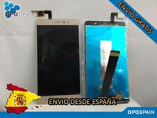 PANTALLA LCD + TACTIL SIN MARCO DORADA PARA XIAMI REDMI NOTE 3 150mm ENVIO MRW24