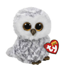 "Ty Beanie Boos 6"" Owlette the Owl Stuffed Animal Plush MWMT's New w/ Heart Tags"