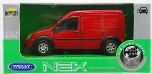 WELLY FORD TRANSIT CONNECT RED 1:34 DIE CAST METAL MODEL NEW IN BOX
