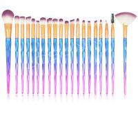Eye Brushes 20pcs Unicorn Eyeshadow Eyeliner Blending Crease Kit Makeup Brushes