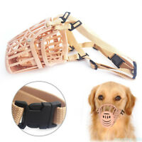 Adjustable Basket Cage Dog Training Bark Bite Chew Control Mouth Muzzle Cover GH