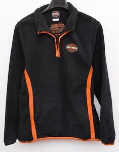 Harley Davidson Damen M Vlies Sweatshirt Pullover Kapuzenpulli Top RA35