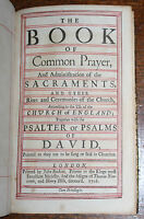 1716 Book of Common Prayer Baskett Sacrament Psalms 54 Engraved Plates Binding