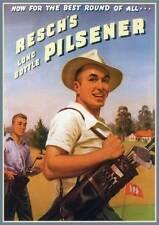 Reschs tooths golf print classic retro beer premium 250gsm satin poster
