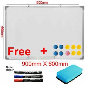 Magnetic Dry Wipe White Whiteboard Notice Memo Board Home School Office 900X 600