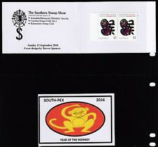 Australia 2016 SOUTH-PEX Year of the Monkey LHS Unofficial Booklet - UB14-16a