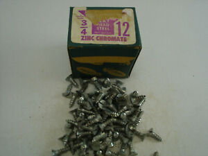 "Wood Screws Flat Head Slotted Plain Steel #12X 3/4"" Southern Screw Works 100 pcs"