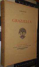 GRAZIELLA LAMARTINE 1926 le livre français Piazza éditeur