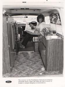 Ford Transit 'Trailblazer' Motorhome Interior Period Press Photograph