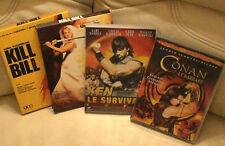 LOT 4 DVD - KILL BILL 1 & 2 - Ken le surviuvant - Conan le Barbare COLLECTION