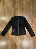Fuax Leather Zara Biker Jacket Size L Brand New