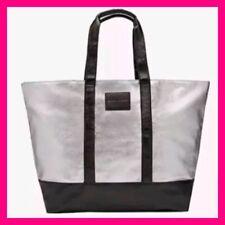 New Victorias Secret Metallic Silver Weekender Tote Bag Tavel Gym Limited