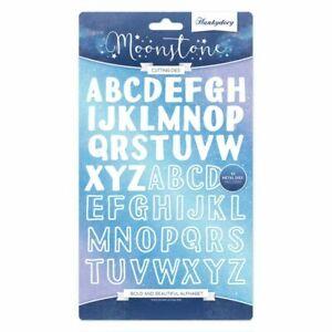 Bold and beautiful alphabet 52 cutting dies Hunkydory Moonstone MSTONE165