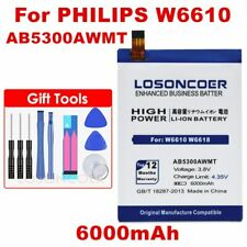 LOSONCOER 6000mAh AB5300AWMT Battery for PHILIPS W6610 W6618