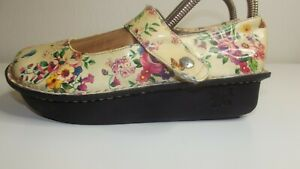 ALEGRIA PAL-314 Paloma Floral MARY JANE SHOES - Size 37 - Yellow Butterfly