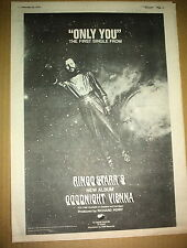 RINGO STARR (Beatles) Only You 1974  UK Poster size Press ADVERT 16x12 inches