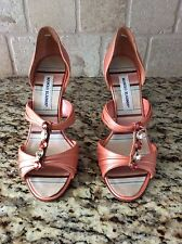 "NEW MANOLO BLAHNIK COLORFUL DECORATIVE STONE 4"" LEATHER HEELS 39.5 or 9.5US $845"